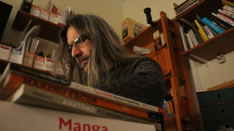 Vangelis Karadimas preparing an animation lesson