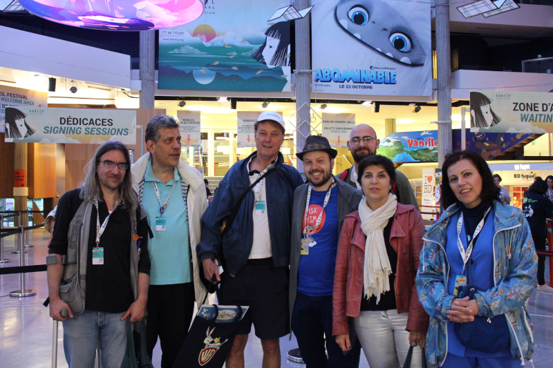 asifa hellas members with Bill Plympton, mifa 2019